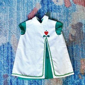 Vntg Florence Eiseman young girl's 2-piece dress